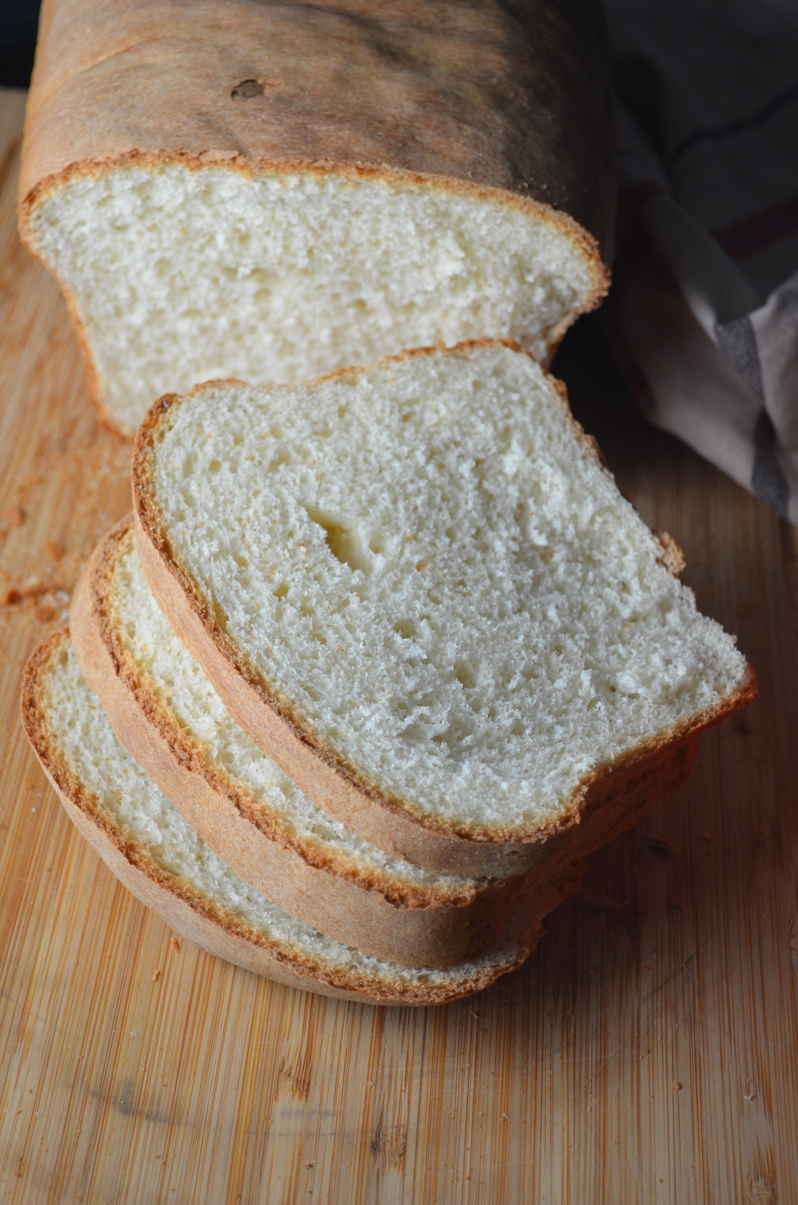 Basic White Bread Loaf at SweetNSpicyLiving.com