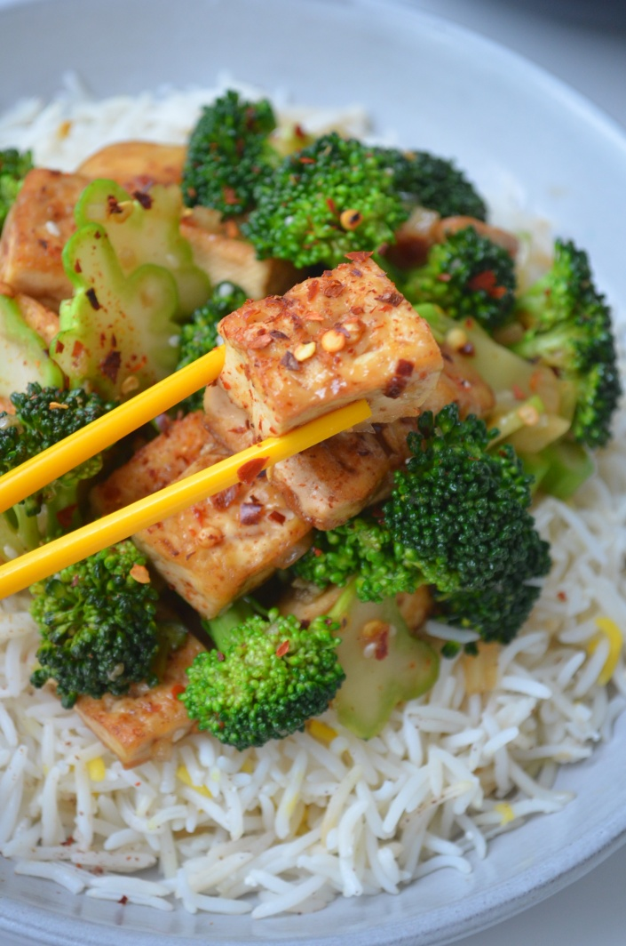 Brocolli and Tofu Stir Fry