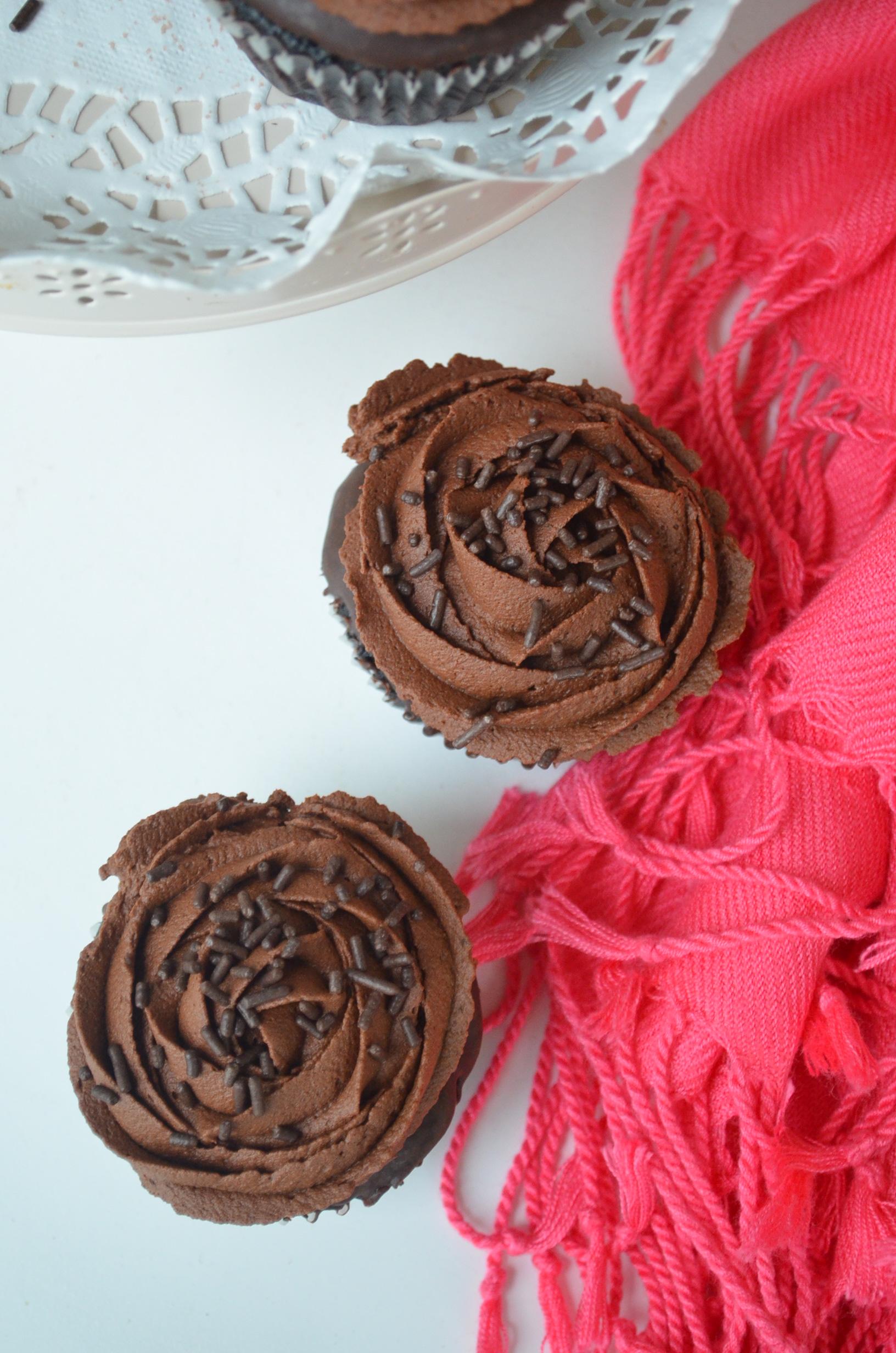 Chocolate Cupcake Recipe with Chocolate Ganache Frosting