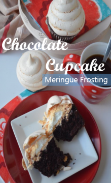 Chocolate Cupcake with Meringue Frosting