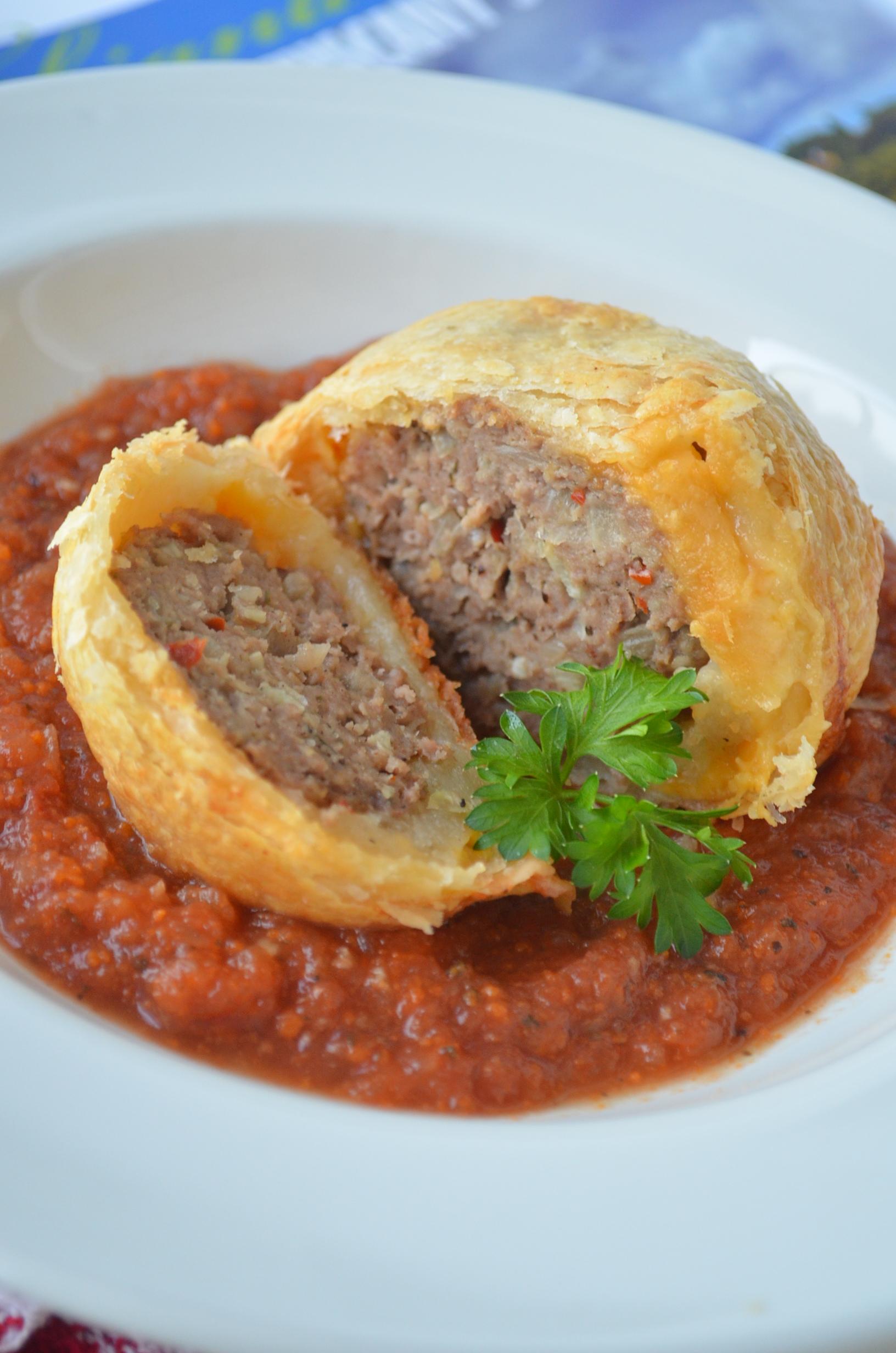 Easy Meatballs Wellington