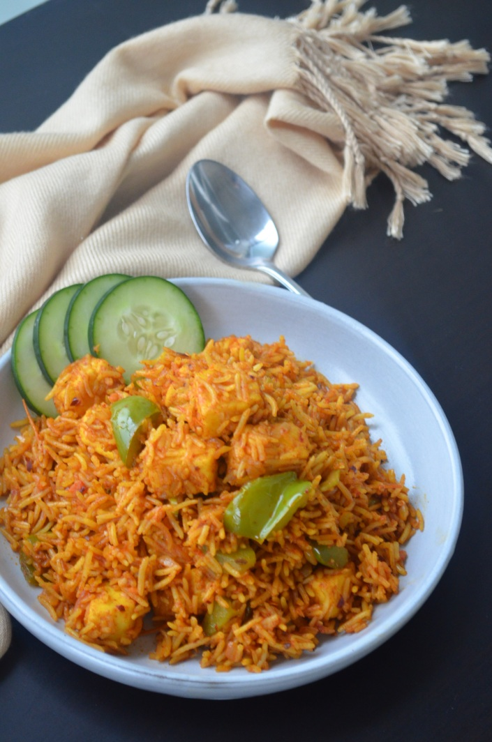 Easy Paneer Biryani Rice at SweetNSpicyLiving.com
