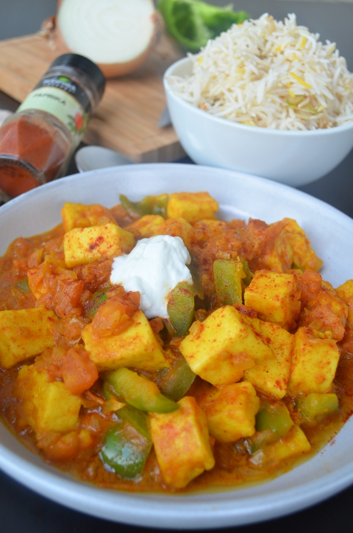 Easy Paneer Curry at SweetnSpicyLiving.com