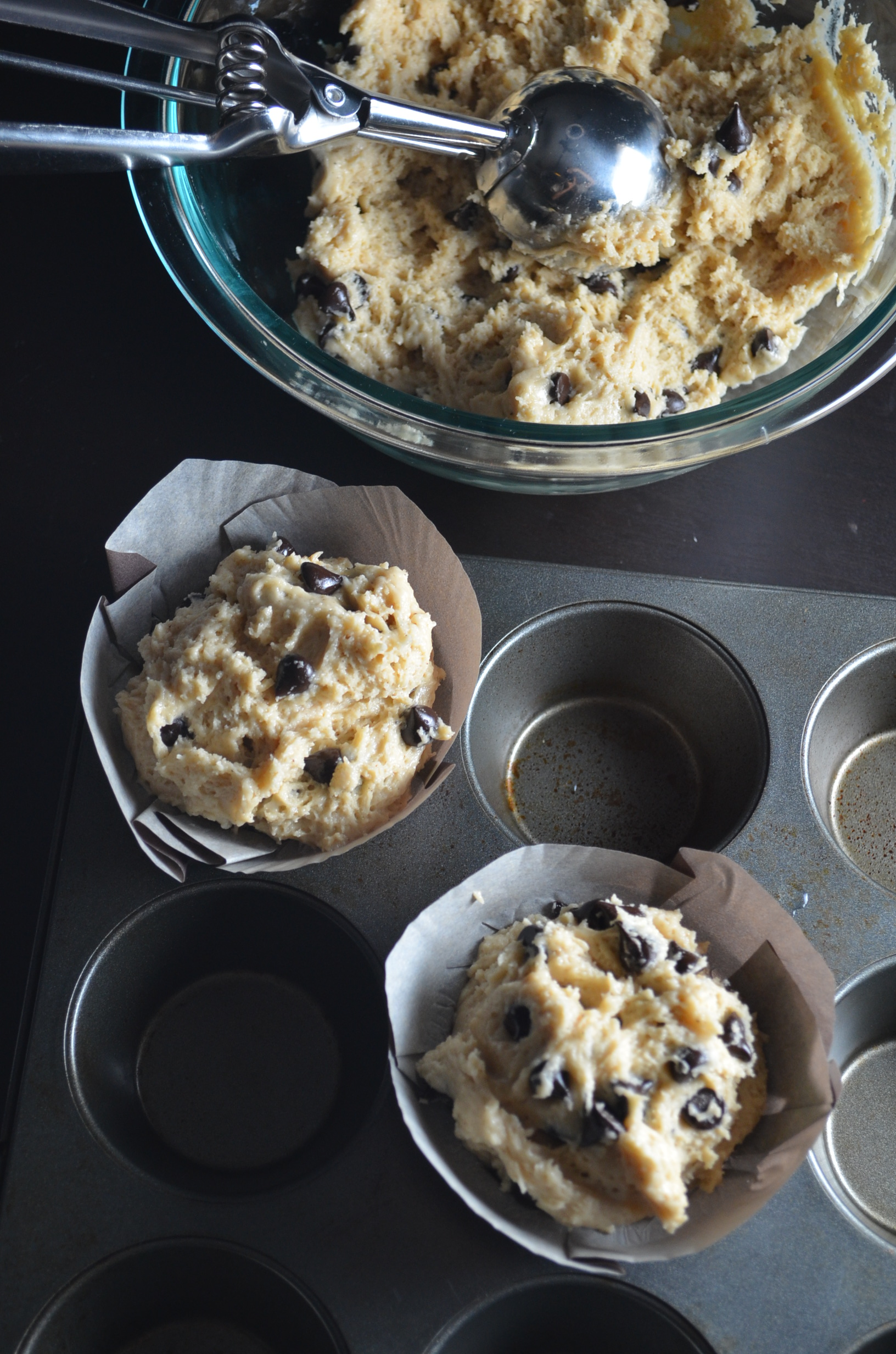 Soft Chocolate Chip Muffins