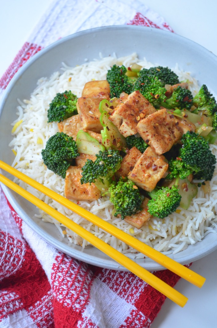 Stir Fry Tofu and Brocolli