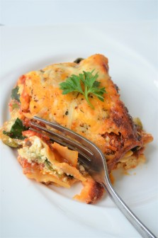 Vegetarian Lasagna at SweetNSpicyLiving.com
