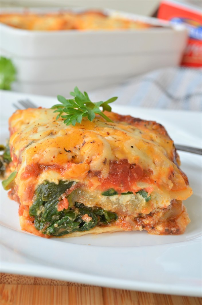 Zucchini Eggplant and Spinach Lasagna Recipe at SweetNSpicyLiving.com