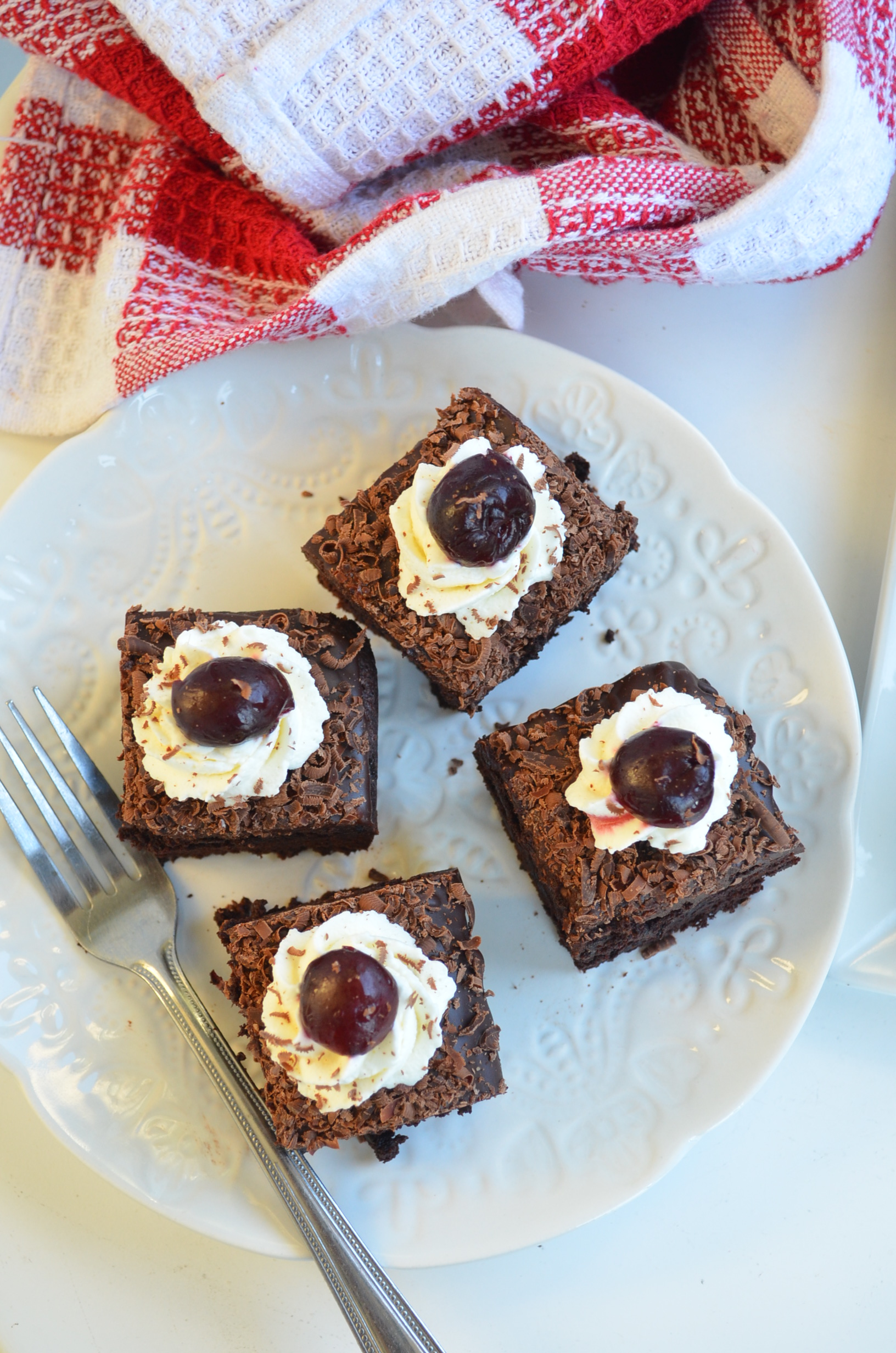 Homemade Black Forest Brownie at SweetNSpicyLiving.com