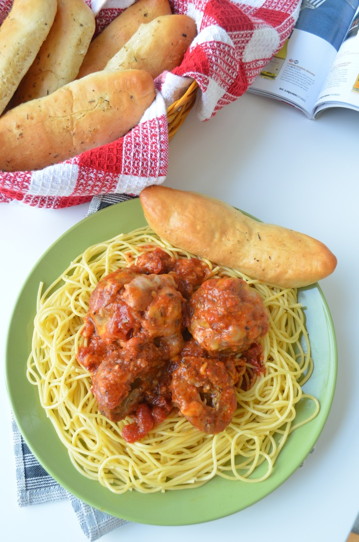 Homemade Meatballs Spaghetti at SweetNSpicyLiving.com