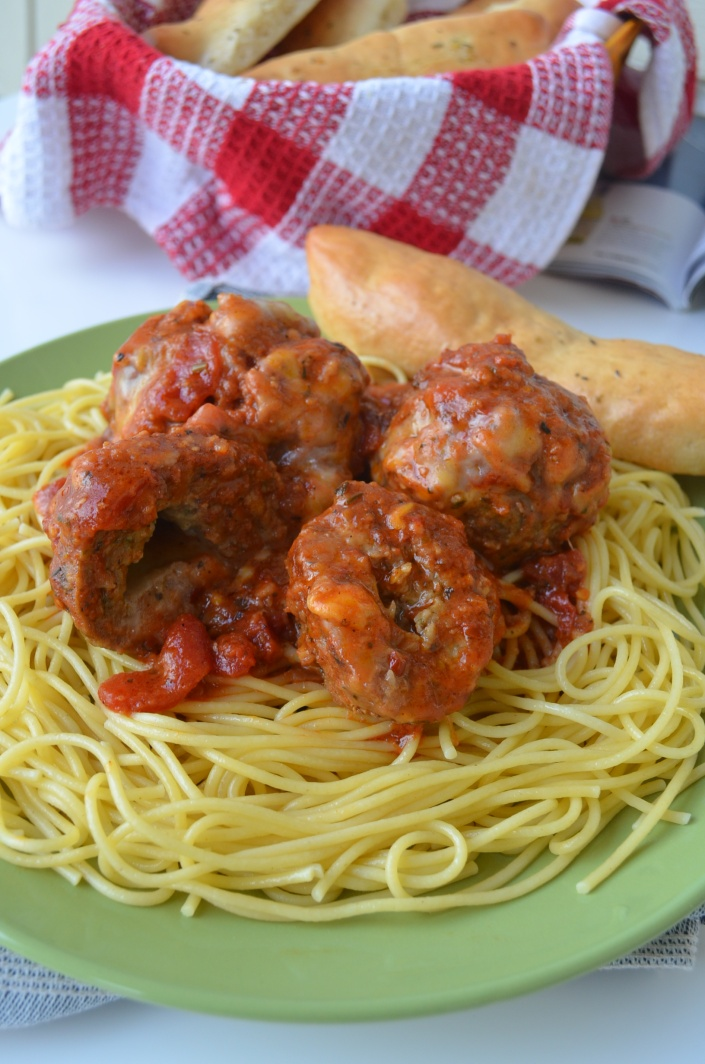 Meatballs Spaghetti at SweetNSpicyLiving.com