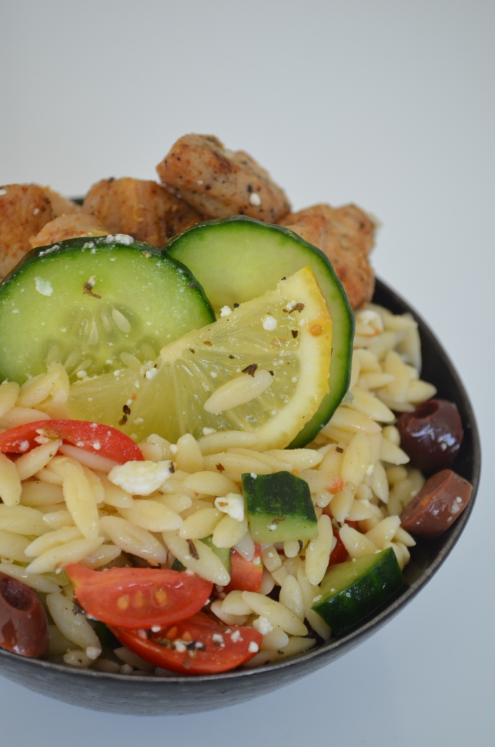 Mediterranean Orzo Salad at SweetNSpicyLiving.com