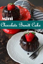 Mini Chocolate Bundt Cake For Two