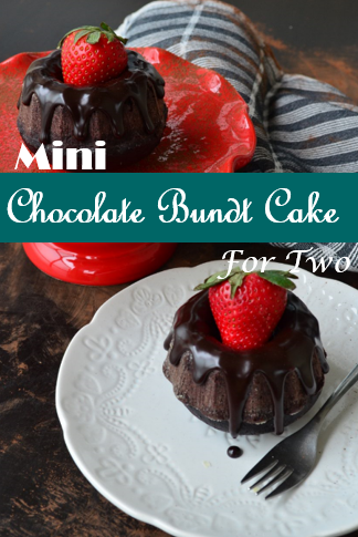 Mini Chocolate Bundt Cake For Two