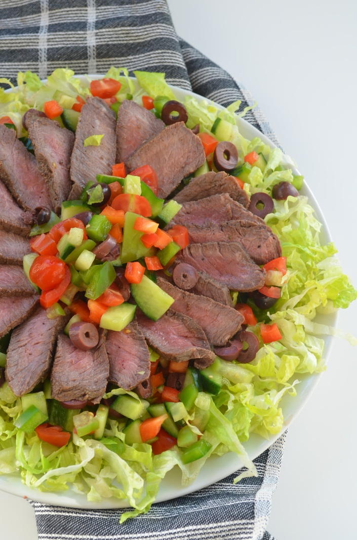 Pan Seared Steak Salad at SweetNSpicyLiving.com