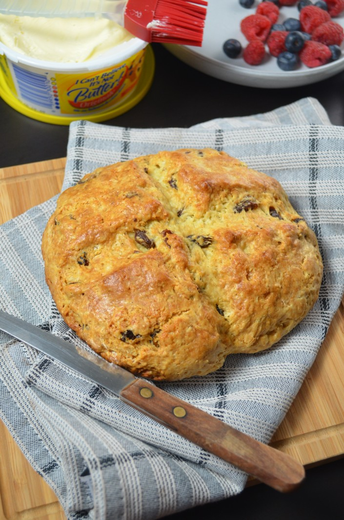 Raisins Irish Soda Bread at SweetNSpicyLiving.com