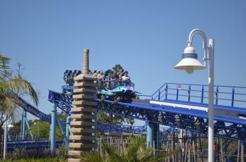 Manta Roller Coaster Ride at Sea World San Diego