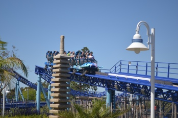 Manta Roller Coaster Ride at Sea World San Diego