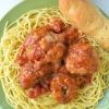 Simple Meatballs Spaghetti at SweetNSpicyLiving.com