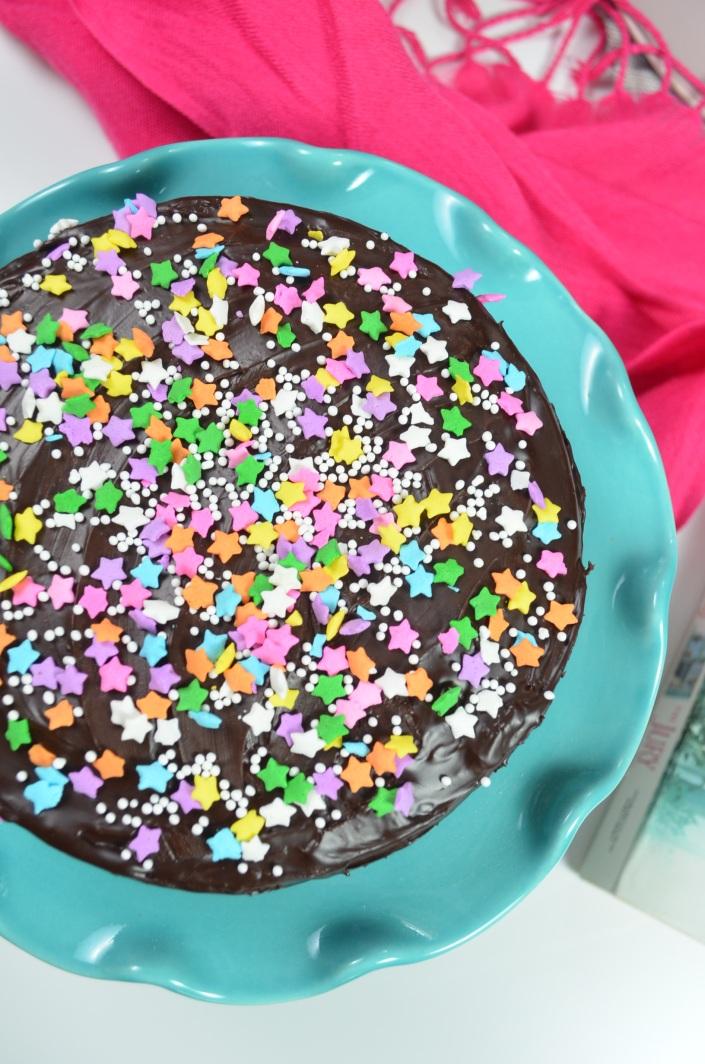 Sprinkles Chocolate Cake Recipe at SweetNSpicyLiving.com