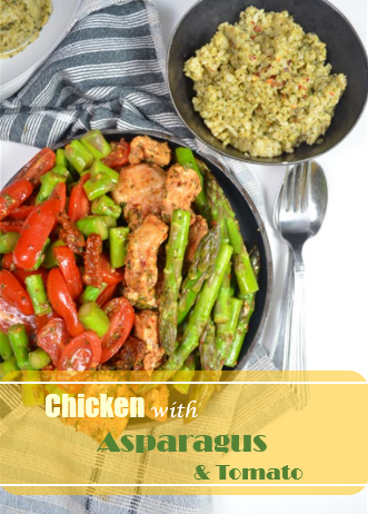Chicken with Asparagus and Tomato