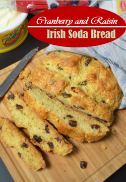 Cranberry and Raisins Irish Soda Bread