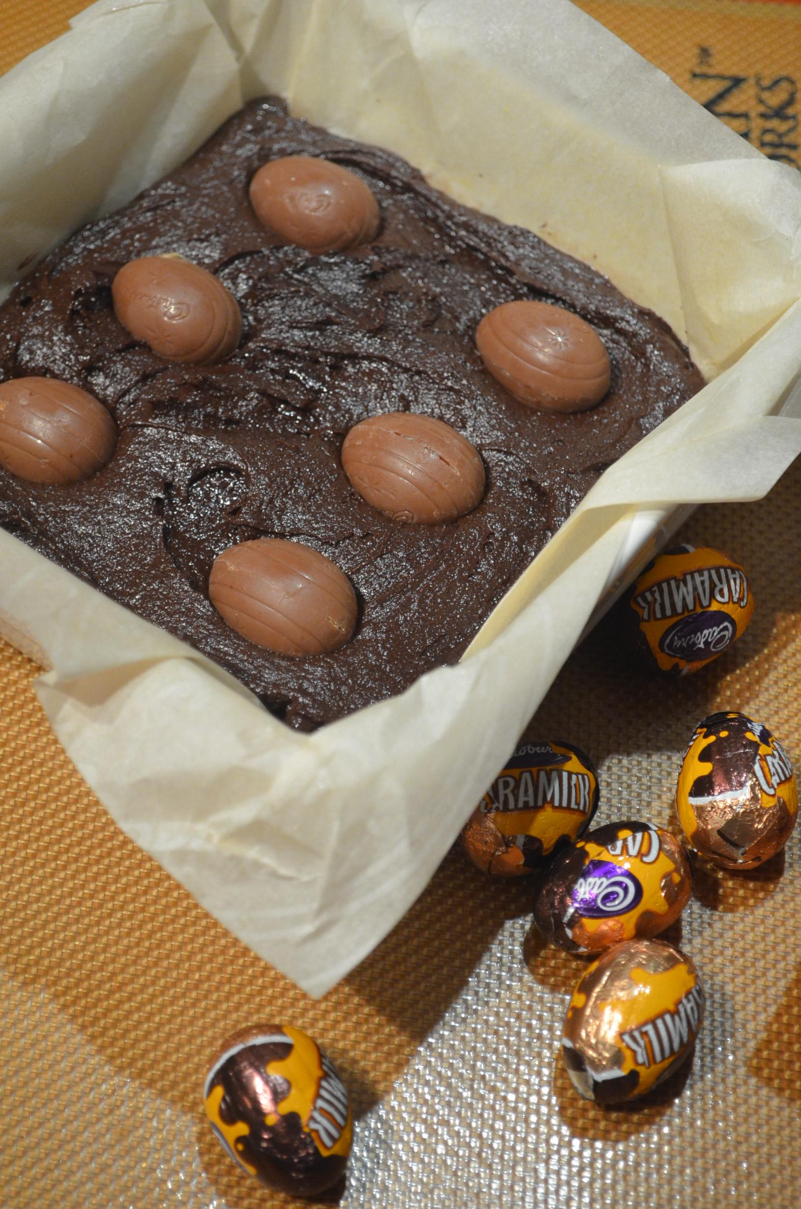 Easter Brownie at SweetNSpicyLiving.com