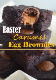 Easter Caramel Egg Brownies
