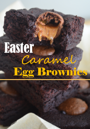 Easter Caramel Egg Brownies