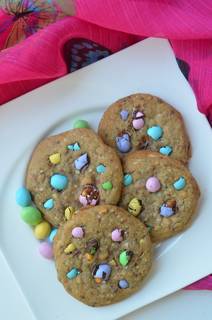Easter M&M Cookie Recipe at SweetNSpicyLiving.com