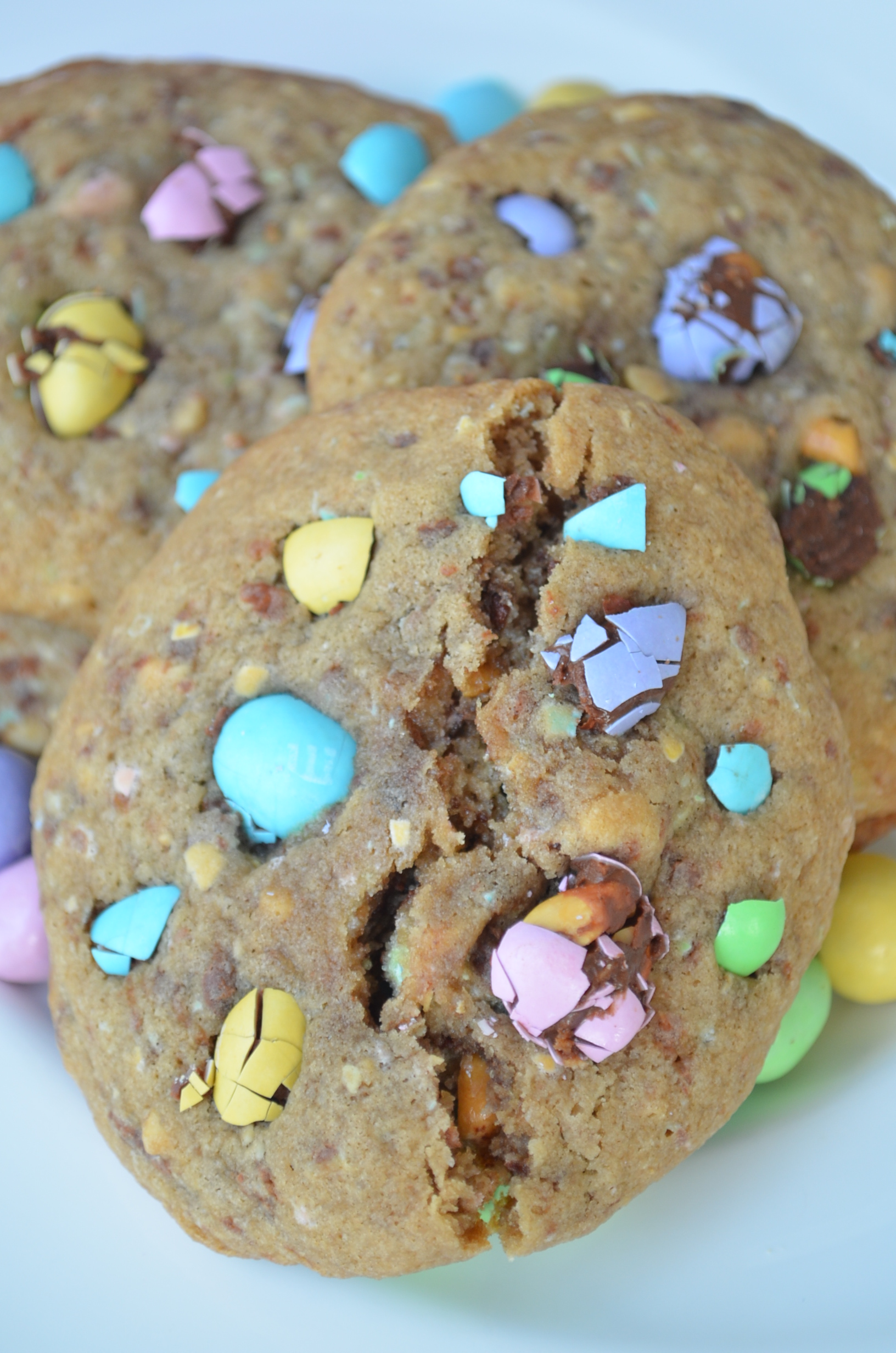 Easter M&M Cookies at SweetNSpicyLiving.com