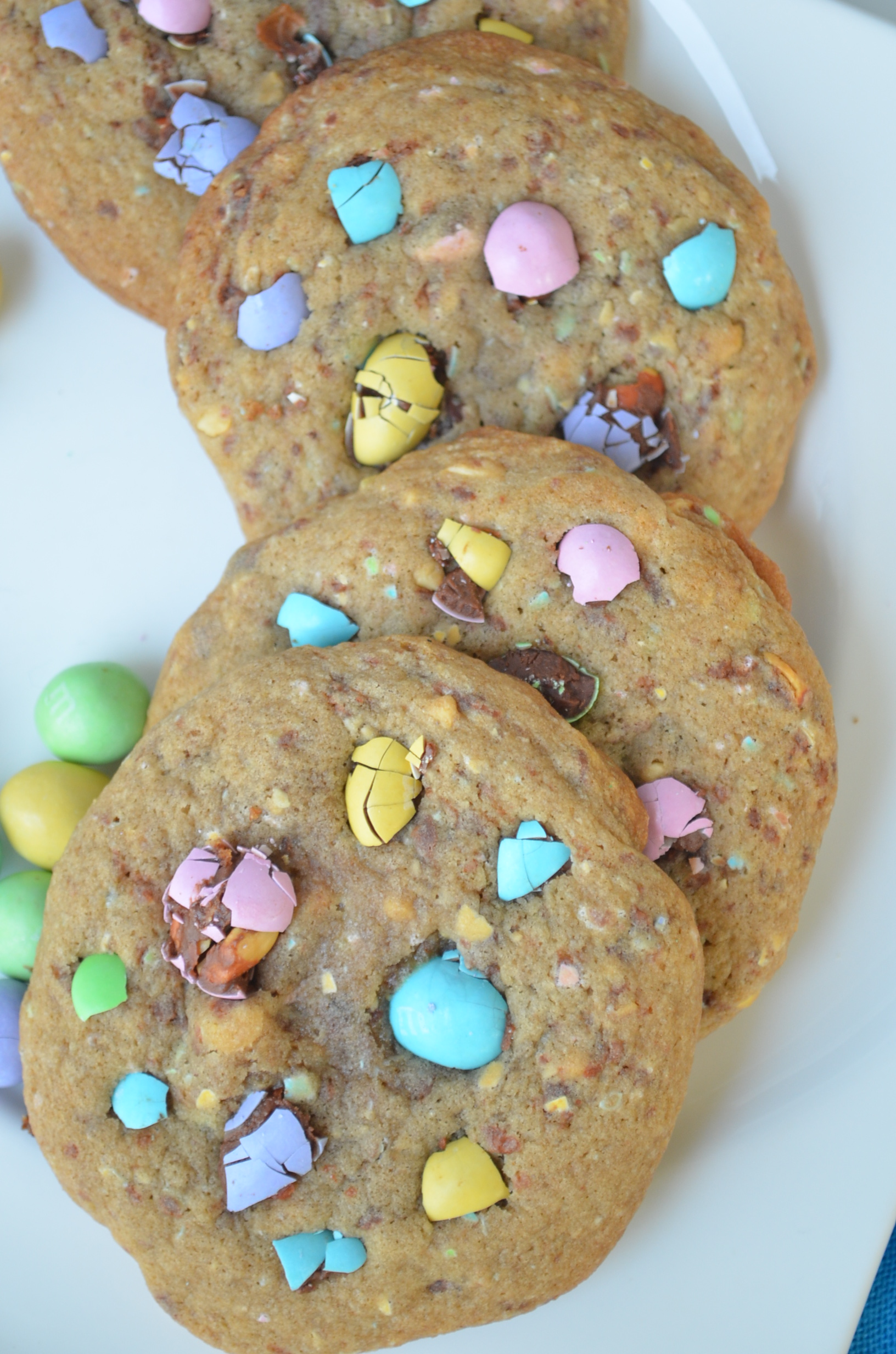 Soft and Chewy M&M Easter Cookies at SweetNSpicyLiving.com