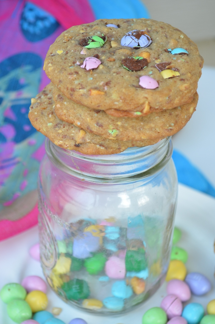 Spring M&M Cookies at SweetNSPicyLiving.com