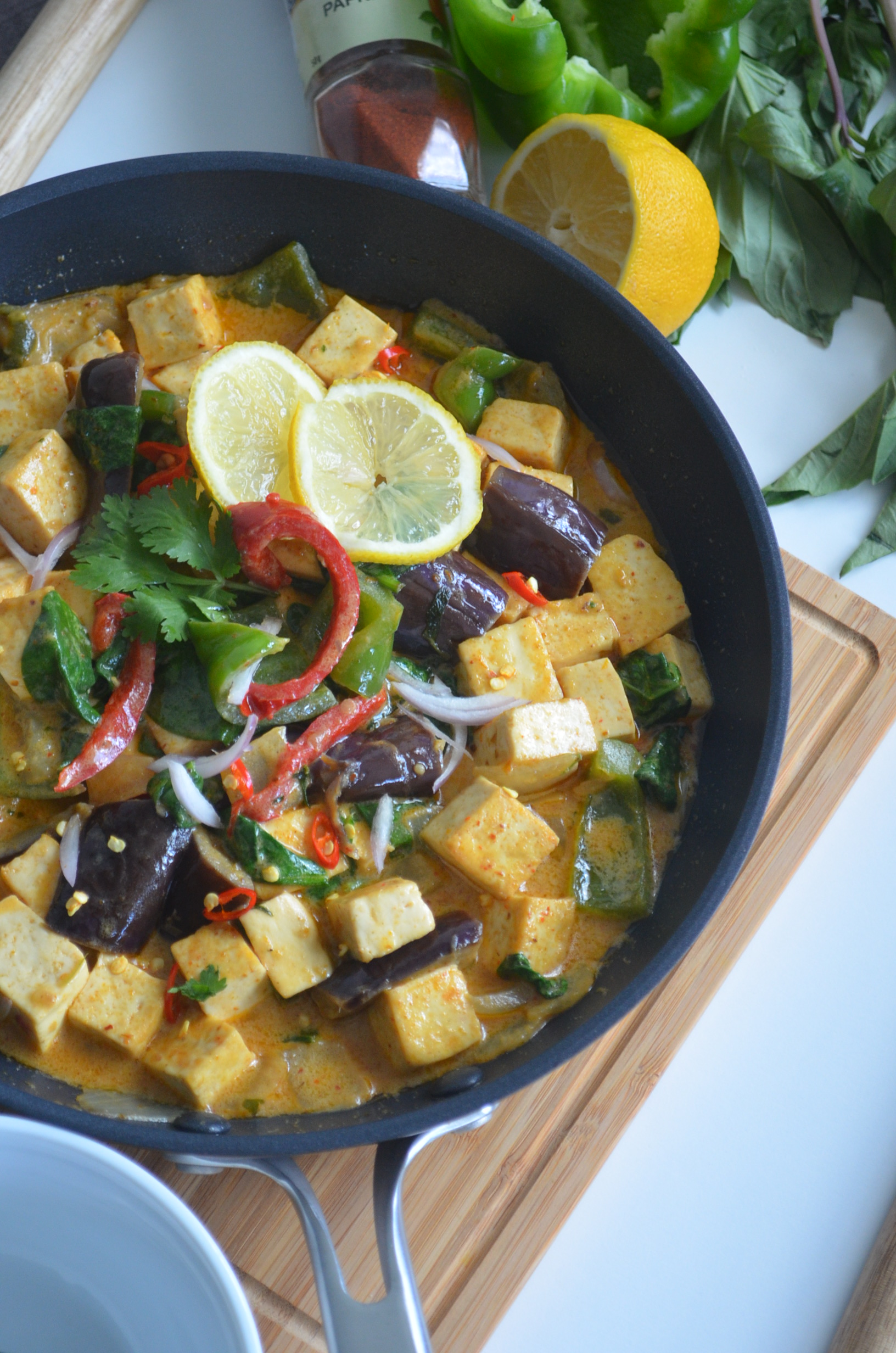 Tofu Curry in Thai Coconut Sauce at SweetNSpicyLiving.com