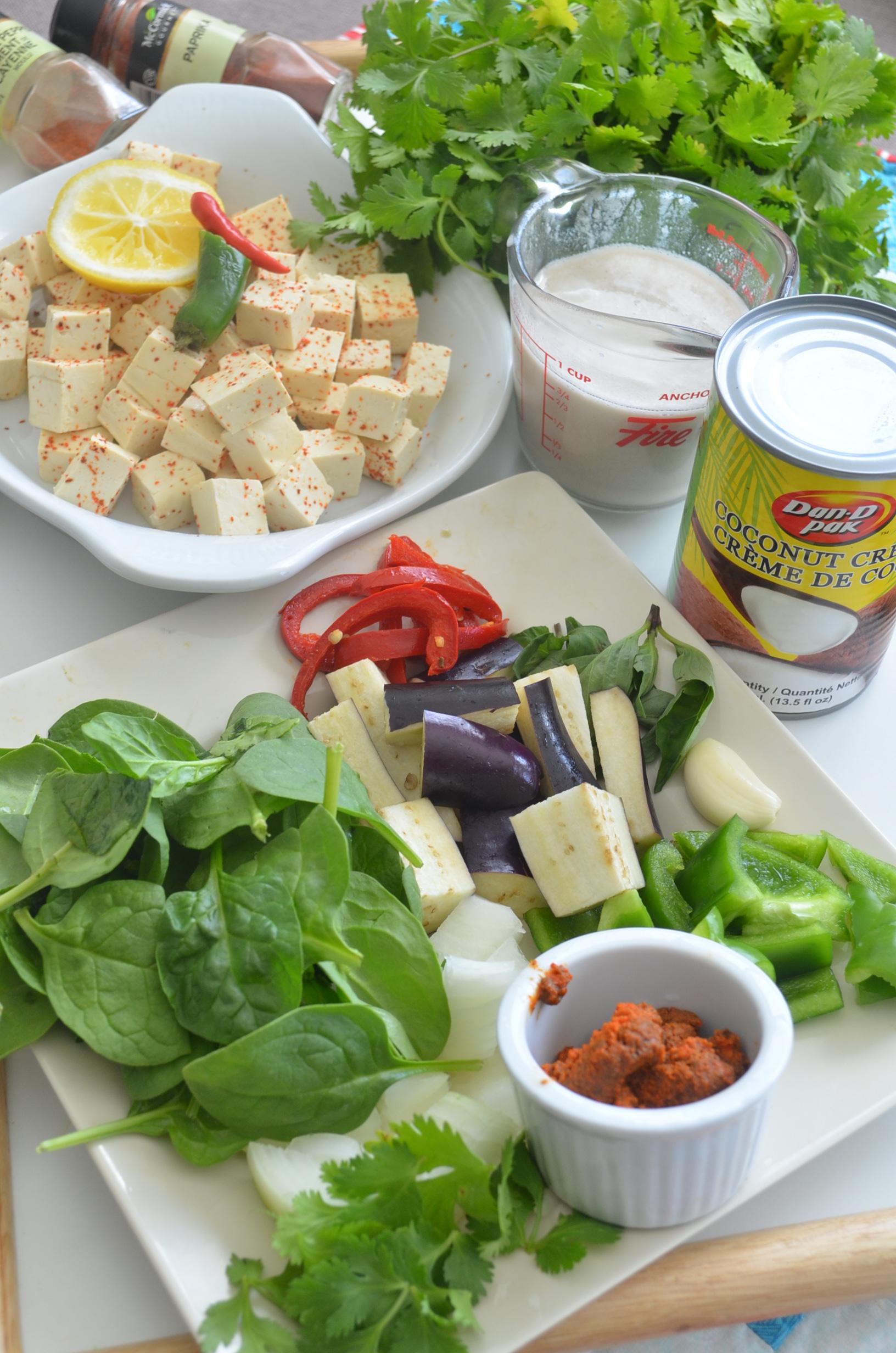 Tofu Curry in Thai Coconut Sauce Recipe at SweetNSpicyLiving.com