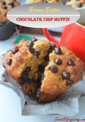 Brown Butter Chocolate Chip Muffin
