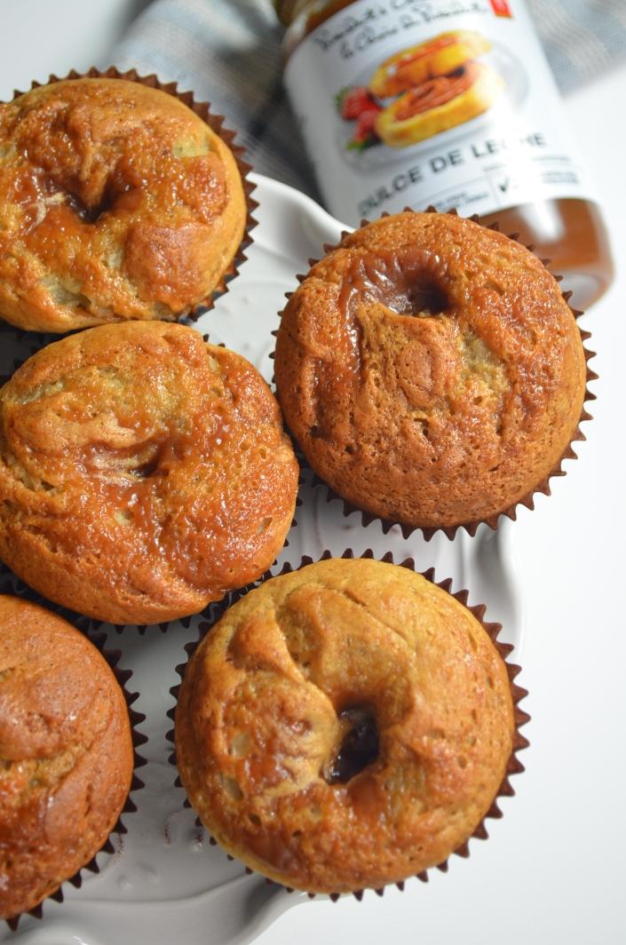 Caramel Fille Banana Muffins
