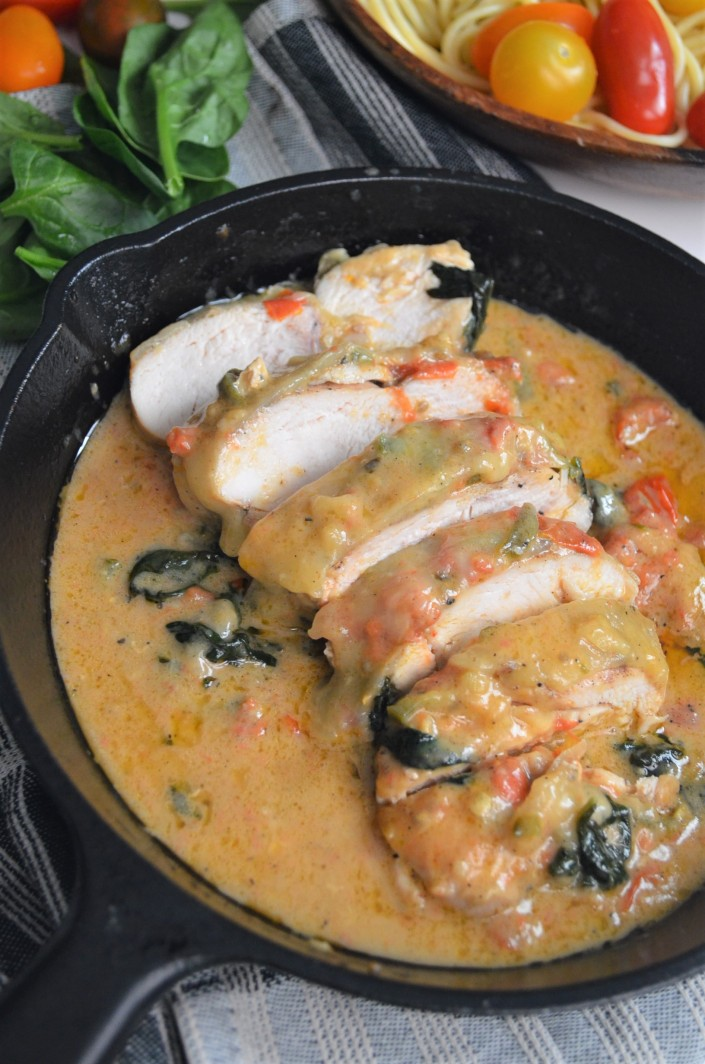 Creamy Tuscan Chicken at SweetnSpicyLiving.com