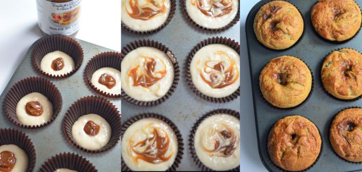 Dulce De Leche Banana Muffin Collage'