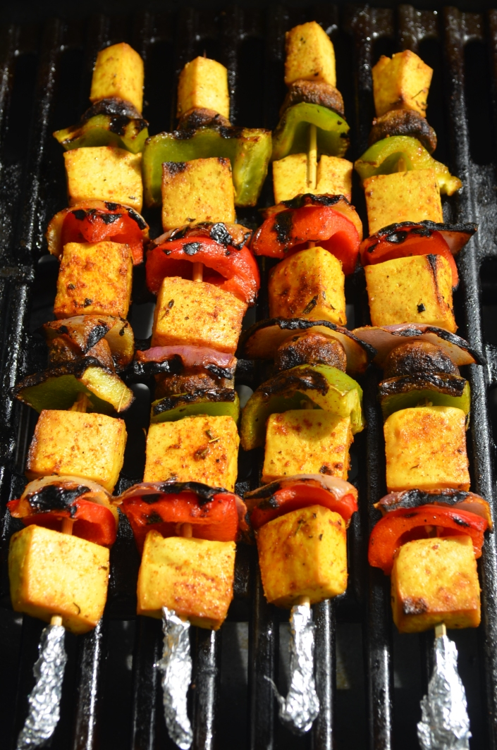 Grilled Tofu Skewers at SweetNSpicyLiving.com