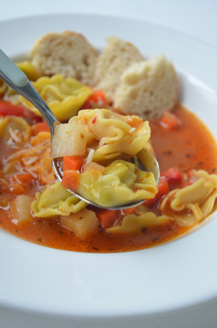 Iralian Tortellini Soup at SweetNSpicyLiving.com
