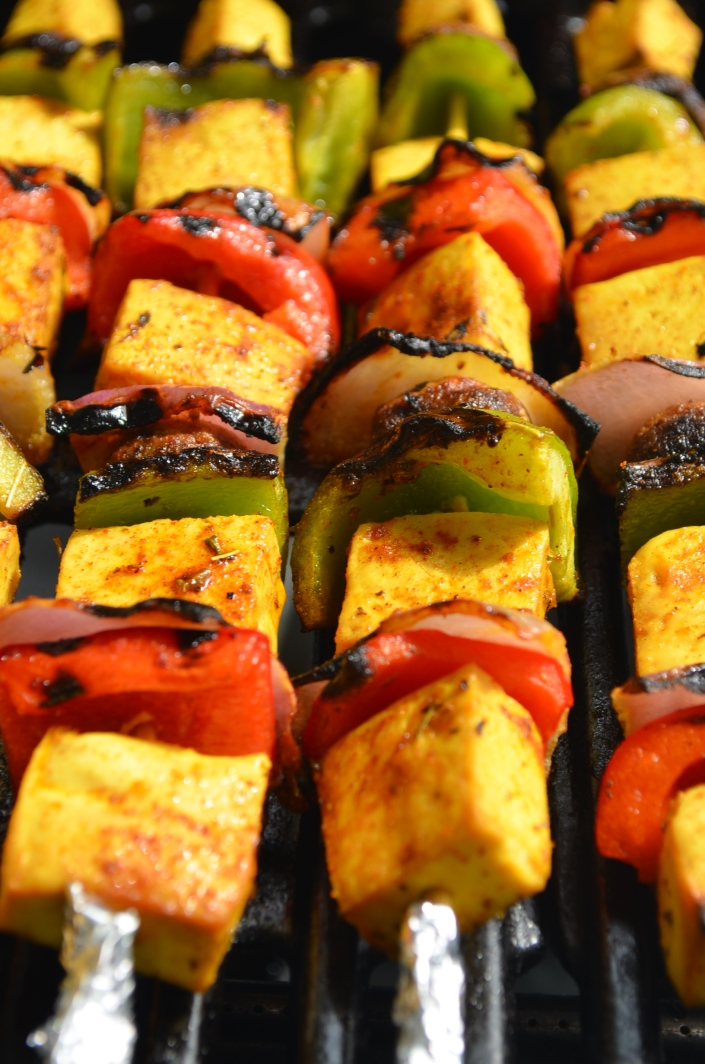 Mediterranean-Spiced Tofu Kebabs at SweetNSpicyLiving.com