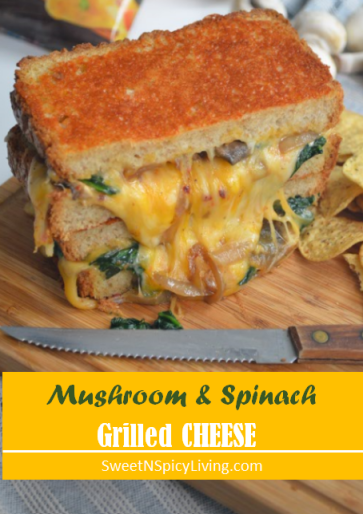 Mushroom and Spinach Grilled Cheese 3