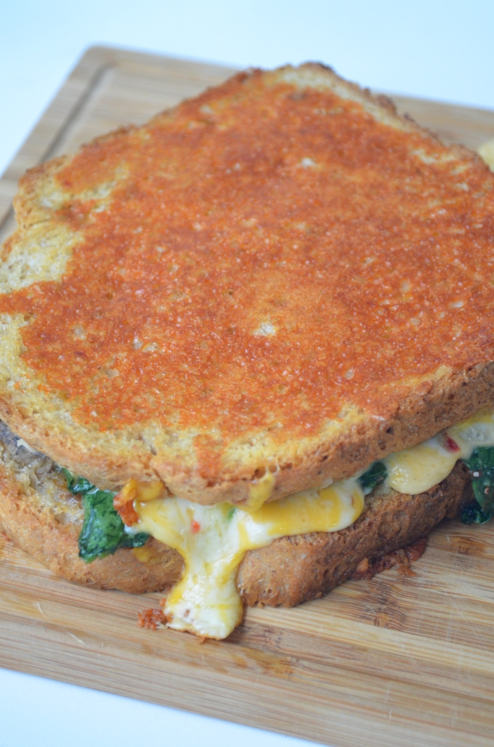 Mushroom and Spinach Grilled Cheese