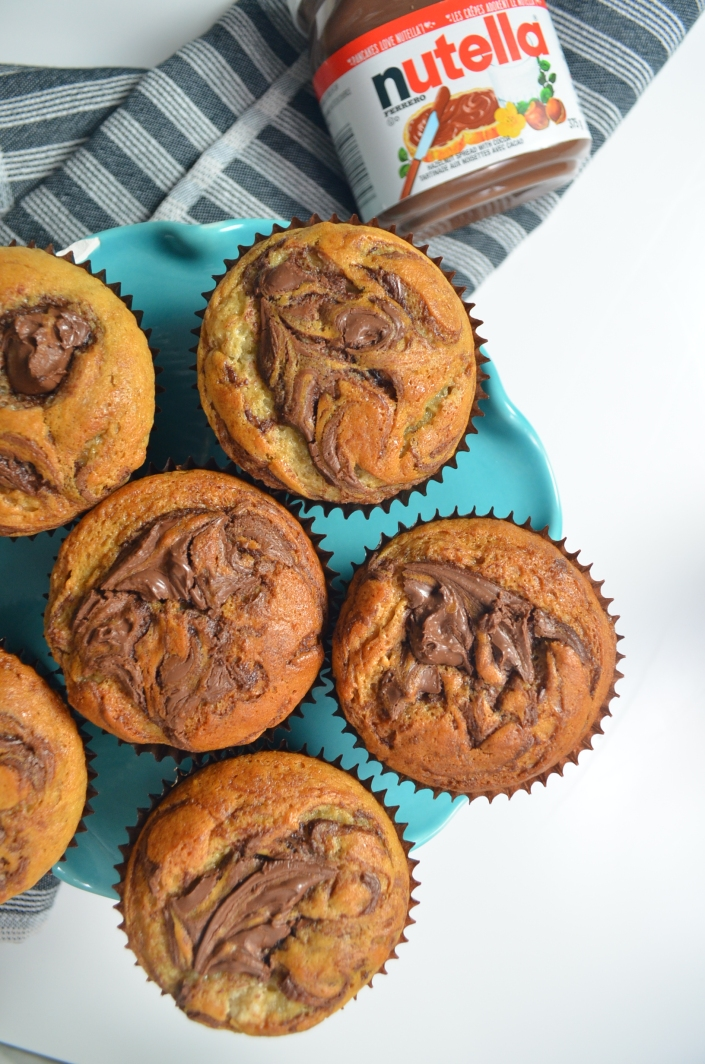 Nutella Banana Muffins at SweetNSPicyLiving.com
