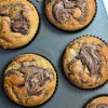 Nutella Swirl Banana Muffins at SweetNSPicyLiving.com