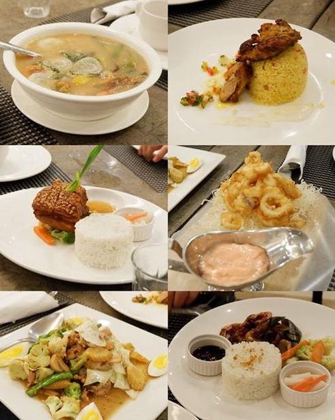 Ocean Suites Food Collage