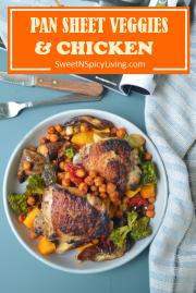 Pan sheet Veggies and Chicken