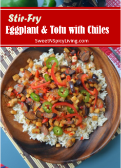 StirFry Tofu and Eggplant with Chiles