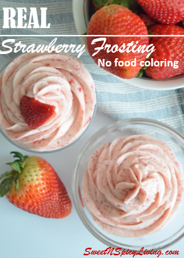 Strawberry Buttercream Frosting