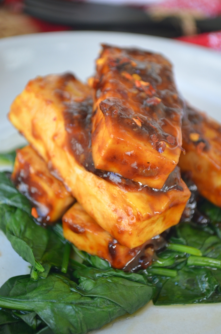 Teriyaki Tofu by SweetNSpicyLiving.com